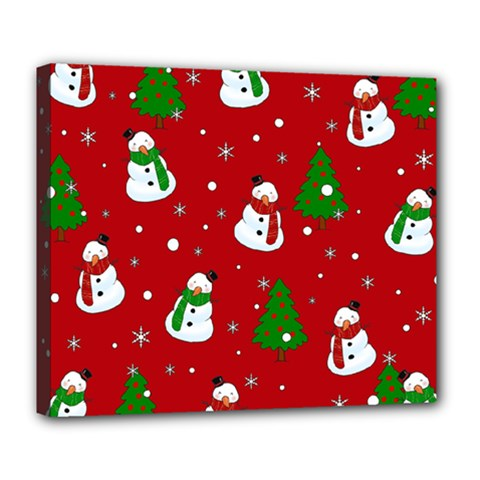 Snowman Pattern Deluxe Canvas 24  X 20