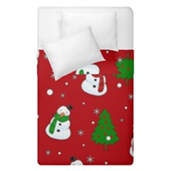 Snowman Pattern Duvet Cover Double Side (single Size) by Valentinaart