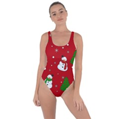 Snowman Pattern Bring Sexy Back Swimsuit by Valentinaart