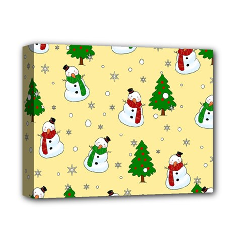 Snowman Pattern Deluxe Canvas 14  X 11