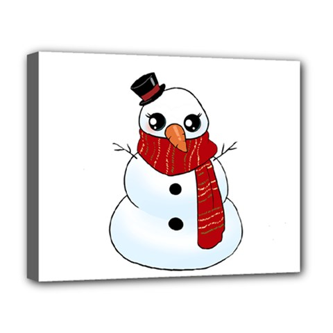 Kawaii Snowman Deluxe Canvas 20  X 16