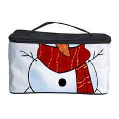 Kawaii Snowman Cosmetic Storage Case by Valentinaart