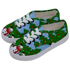 Kawaii Snowman Kids  Classic Low Top Sneakers by Valentinaart