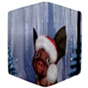 Christmas, Cute Little Piglet With Christmas Hat Apple iPad 2 Flip Case View4