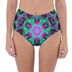 Pattern Reversible High Waist Bikini Bottoms by gasi