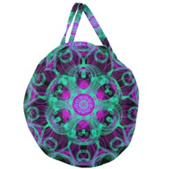 Pattern Giant Round Zipper Tote by gasi