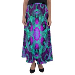 Pattern Flared Maxi Skirt by gasi