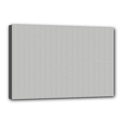 Grey And White Simulated Carbon Fiber Canvas 18  X 12  by PodArtist