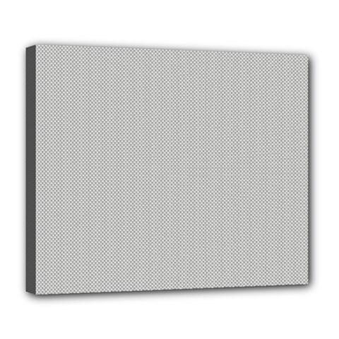 Grey And White Simulated Carbon Fiber Deluxe Canvas 24  X 20   by PodArtist