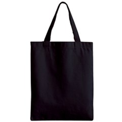 Black Carbon Fiber Zipper Classic Tote Bag by PodArtist
