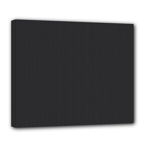 Simulated Black Carbon Fiber Steel Deluxe Canvas 24  X 20   by PodArtist