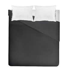 Simulated Black Carbon Fiber Steel Duvet Cover Double Side (full/ Double Size) by PodArtist