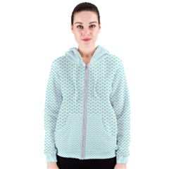 Tiffany Aqua Blue Lipstick Kisses On White Women s Zipper Hoodie by PodArtist