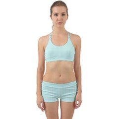Tiffany Aqua Blue Lipstick Kisses On White Back Web Sports Bra Set
