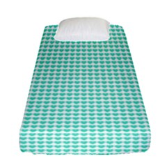 Tiffany Aqua Blue Candy Hearts On White Fitted Sheet (single Size) by PodArtist