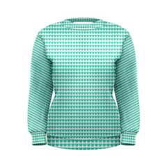 Tiffany Aqua Blue Candy Hearts On White Women s Sweatshirt by PodArtist