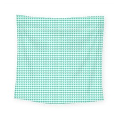 Tiffany Aqua Blue Candy Hearts On White Square Tapestry (small) by PodArtist