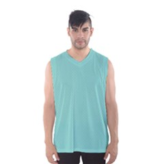 Tiffany Aqua Blue Puffy Quilted Pattern Men s Basketball Tank Top by PodArtist