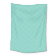 Tiffany Aqua Blue Puffy Quilted Pattern Medium Tapestry by PodArtist