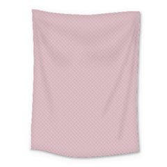 Baby Pink Stitched And Quilted Pattern Medium Tapestry by PodArtist