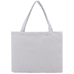 Bright White Stitched And Quilted Pattern Mini Tote Bag by PodArtist