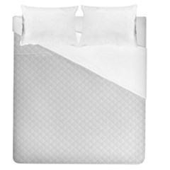 Bright White Stitched And Quilted Pattern Duvet Cover (queen Size)