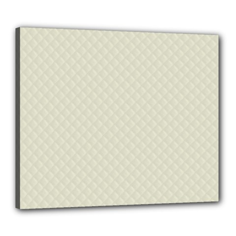 Rich Cream Stitched And Quilted Pattern Canvas 24  X 20  by PodArtist
