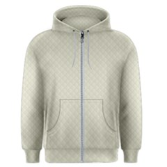 Rich Cream Stitched And Quilted Pattern Men s Zipper Hoodie by PodArtist