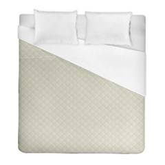 Rich Cream Stitched And Quilted Pattern Duvet Cover (full/ Double Size) by PodArtist