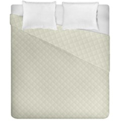 Rich Cream Stitched And Quilted Pattern Duvet Cover Double Side (california King Size) by PodArtist