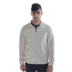 Rich Cream Stitched And Quilted Pattern Wind Breaker (men) by PodArtist