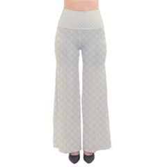 Rich Cream Stitched And Quilted Pattern Pants by PodArtist