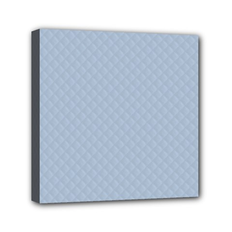 Powder Blue Stitched And Quilted Pattern Mini Canvas 6  X 6  by PodArtist