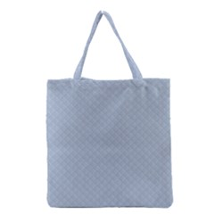 Powder Blue Stitched And Quilted Pattern Grocery Tote Bag by PodArtist
