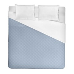 Powder Blue Stitched And Quilted Pattern Duvet Cover (full/ Double Size) by PodArtist