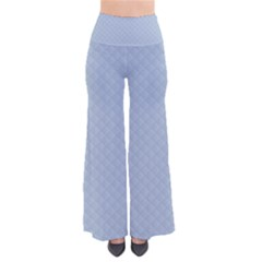 Powder Blue Stitched And Quilted Pattern Pants by PodArtist