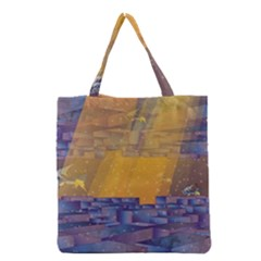 Up Down City Grocery Tote Bag by berwies