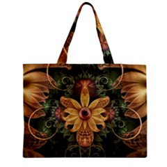 Beautiful Filigree Oxidized Copper Fractal Orchid Medium Tote Bag by jayaprime