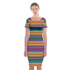 Pattern Classic Short Sleeve Midi Dress by gasi