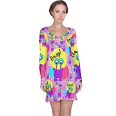 Crazy Long Sleeve Nightdress by gasi