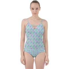 Pattern Cut Out Top Tankini Set by gasi