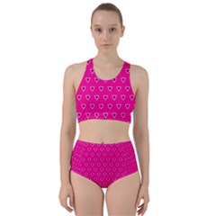 Pattern Racer Back Bikini Set by gasi