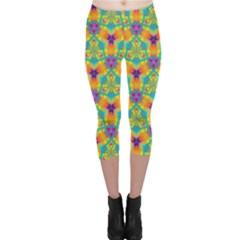 Pattern Capri Leggings  by gasi