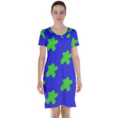 Pattern Short Sleeve Nightdress by gasi