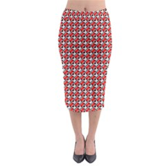 Pattern Midi Pencil Skirt by gasi