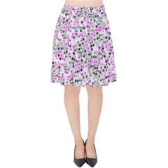 Pattern Velvet High Waist Skirt by gasi