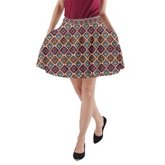 Native American Pattern 4 A Line Pocket Skirt by Cveti