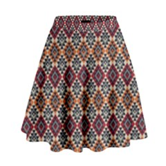Native American Pattern 4 High Waist Skirt by Cveti