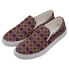 Native American Pattern 4 Men s Canvas Slip Ons by Cveti