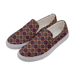 Native American Pattern 4 Women s Canvas Slip Ons by Cveti